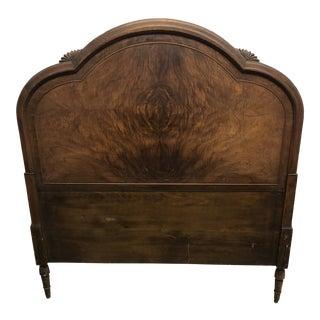 20th Century Art Deco Twin Wooden Headboard For Sale