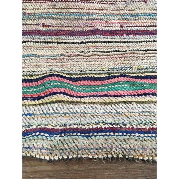 Antique Hand Woven Turkish Kilim Runner Rug - 3′3″ × 9′6″ - Image 9 of 11