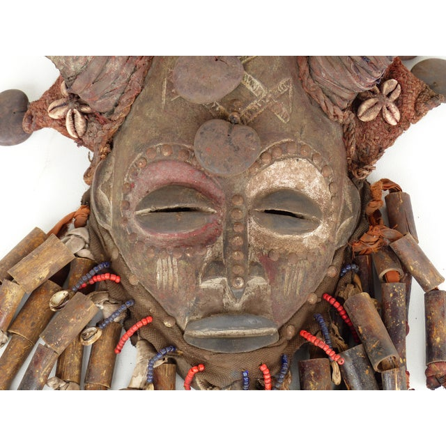 African Bamileke Tribal Mask From Cameroon W/Horns For Sale In Miami - Image 6 of 9