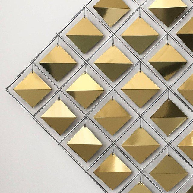 Curtis Jere Brass Diamond Kinetic Wall Sculpture For Sale In Chicago - Image 6 of 9