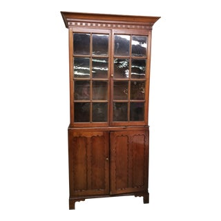19th Century Traditional Walnut Cabinet For Sale