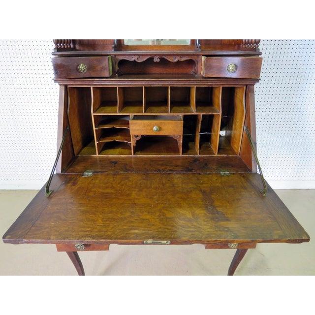 Metal Antique Louis XVI Style Secretary Desk For Sale - Image 7 of 8