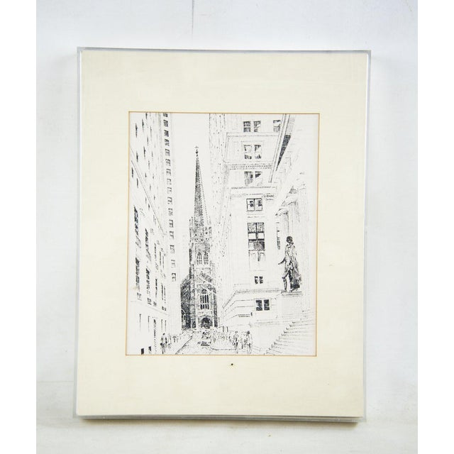 1980s Bruce Armon New York Ink Sketch Prints - Set of 7 For Sale - Image 5 of 13