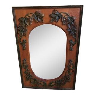 Hand Crafted Wood Frame Oak Leaf & Acorn Design Wall Mirror