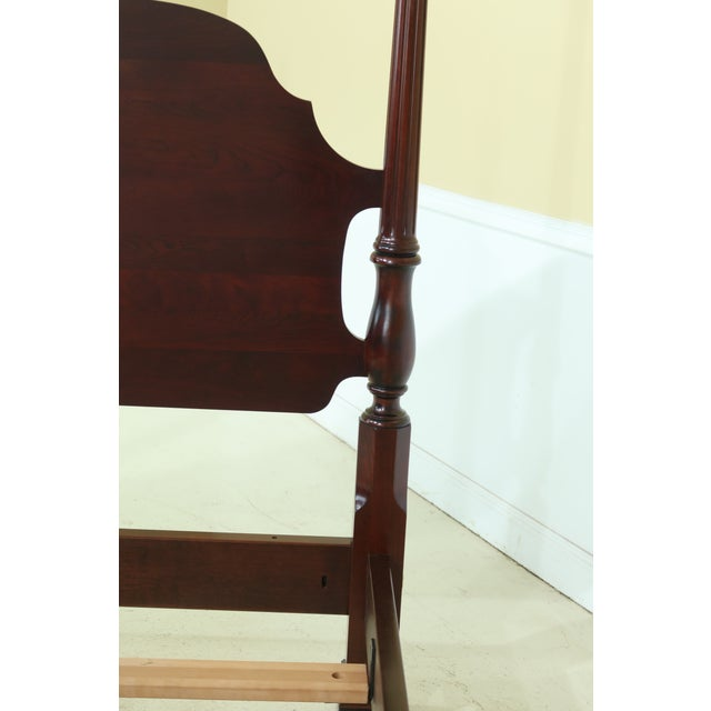 Stickley Queen Size Cherry High Back Poster Bed For Sale - Image 11 of 12