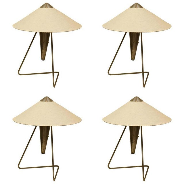 Czech Modernist Table Lamp by Helena Frantova for Okolo, 1950s For Sale - Image 6 of 11