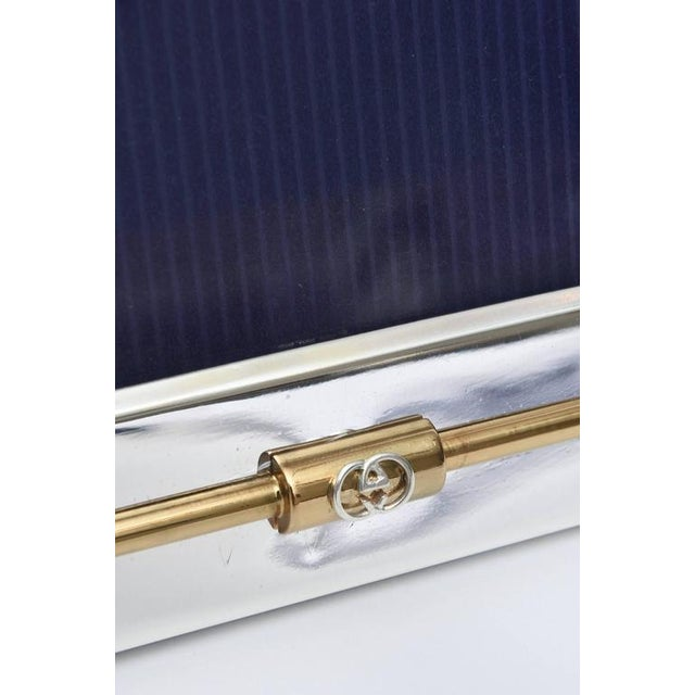 Exceptional Italian Gucci Silver Plate And 24 Carat Gold Plated