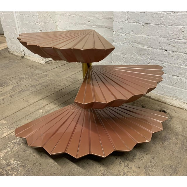 Italian Italian Tiered Occasional Table Style of Gabriella Crespi For Sale - Image 3 of 9