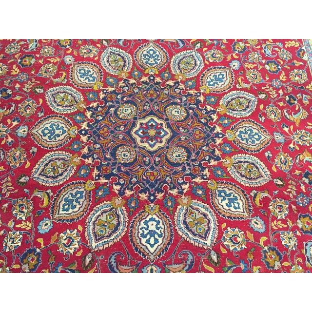 Vintage Persian Mashad Palace Rug - 9′9″ × 12′8″ - Image 4 of 10