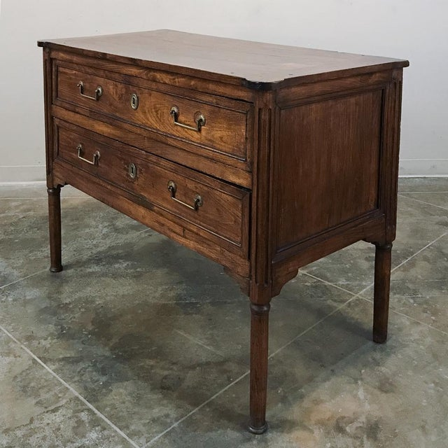 Early 19th Century 19th Century Country French Fruitwood Directoire Commode For Sale - Image 5 of 12