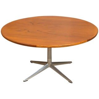 HW Klein for Bramin Round Teak Coffee Table