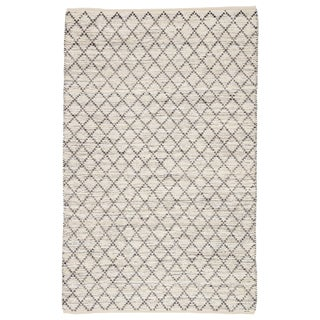 Jaipur Living Glencoe Natural Trellis Ivory/ Blue Area Rug - 2′ × 3′ For Sale