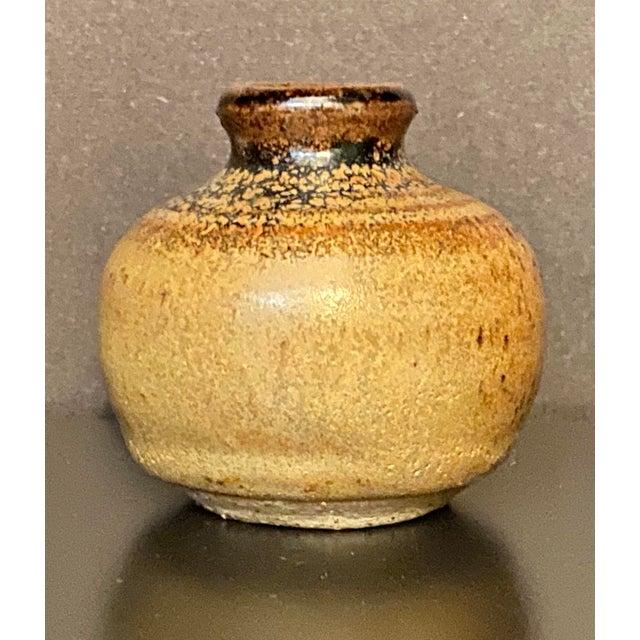 Ceramic Vintage Mid Century Handmade Miniature Pottery Bud Vase For Sale - Image 7 of 7