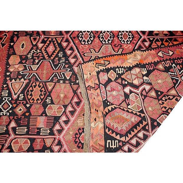 """Antique Caucasian Kilim - 13'4"""" X 5'7"""" - Image 2 of 5"""