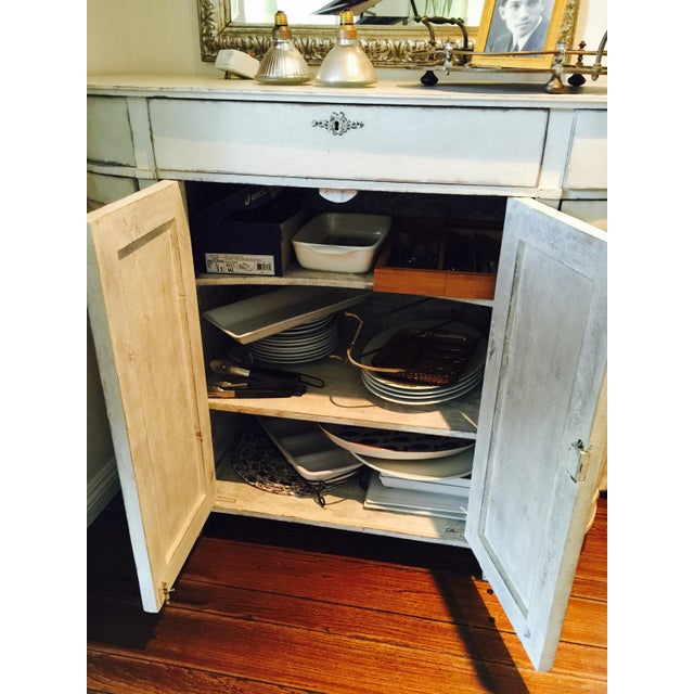 French Country H.D. Buttercup Rounded Corner Buffet For Sale - Image 3 of 4