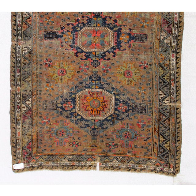 Antique Persian Sumak Kilim Rug- 5′ × 7′2″ - Image 5 of 6