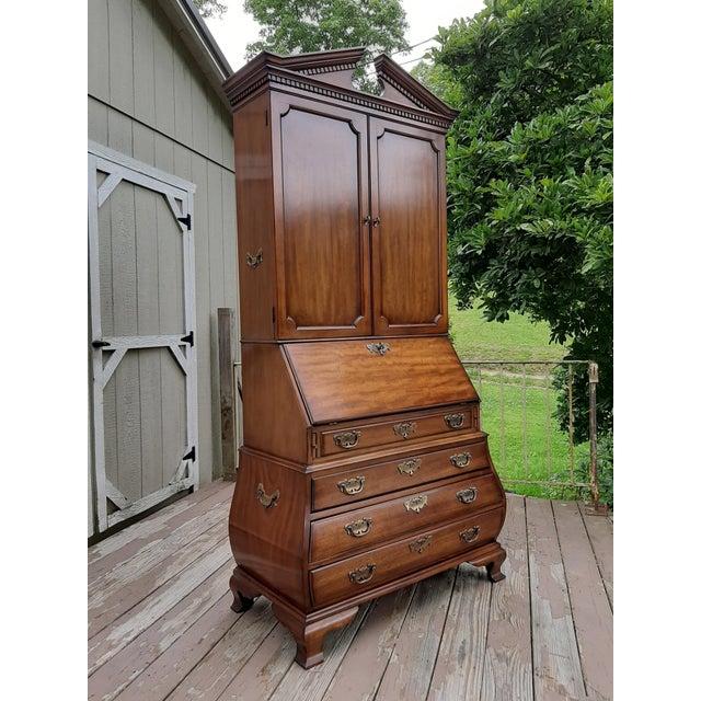 Vintage Drexel Wallace Nutting Bombe Kettle Base Blind Door Secretary Desk For Sale - Image 13 of 13