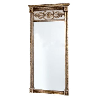 Late 19th Century Painted & Silver Gilt Mirror For Sale