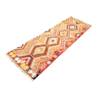 Vintage Turkish Kilim Runner - 2′11″ × 9′3″