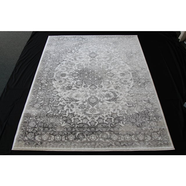 "Distressed Medallion Silver Gray Rug - 8' x 10'7"" - Image 2 of 8"