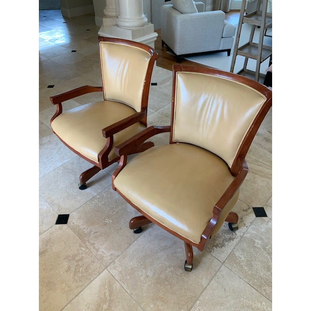 Sam Moore Excaliber Leather Swivel Office Chairs - a Pair For Sale - Image 12 of 12
