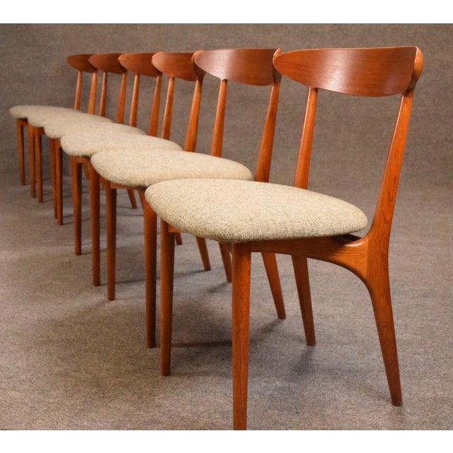 Vintage Kurt Ostervig Danish Modern Teak & Oak Dining Chairs - Set of 6 For Sale In San Diego - Image 6 of 11