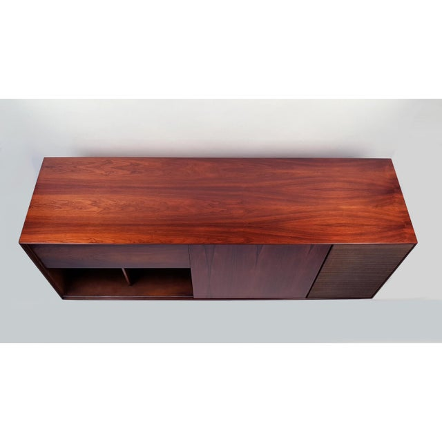 George Nelson Brazilian Rosewood Thin Edge Stereo Cabinet For Sale In Dallas - Image 6 of 11