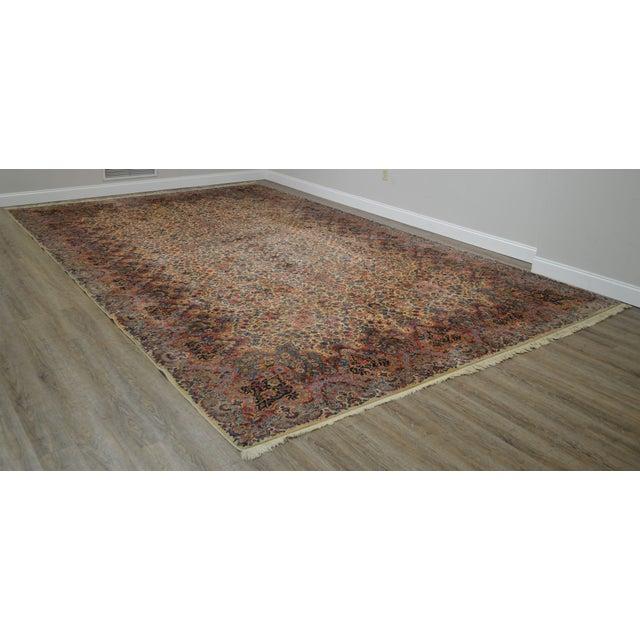 Traditional Karastan 10'x16' Kirman Vintage Large Room Size Carpet Rug #759 For Sale - Image 3 of 13