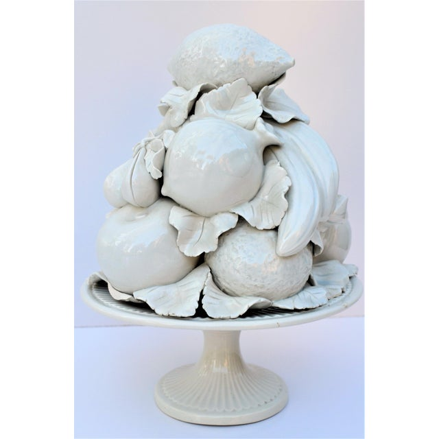 1970s Vintage Italian Blanc De Chine Majolica White Topiary For Sale In Houston - Image 6 of 7