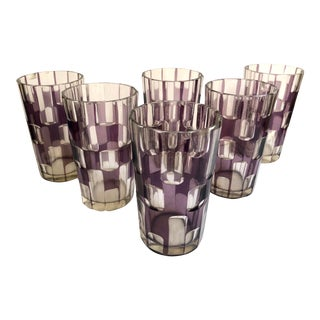 Cut Glass Beverage Glasses, Set of 6 For Sale