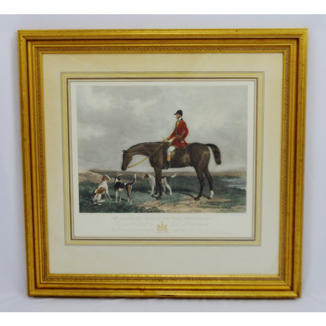 "Color Print of Edward Hacker's Engraving of W & H. Barraud's Original Painting Mr. Charles Davis on ""The Traverser"" Wear..."