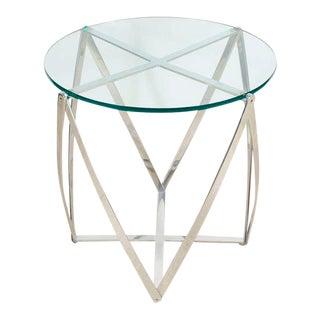 John Vesey Aluminum Spool Lamp Table For Sale