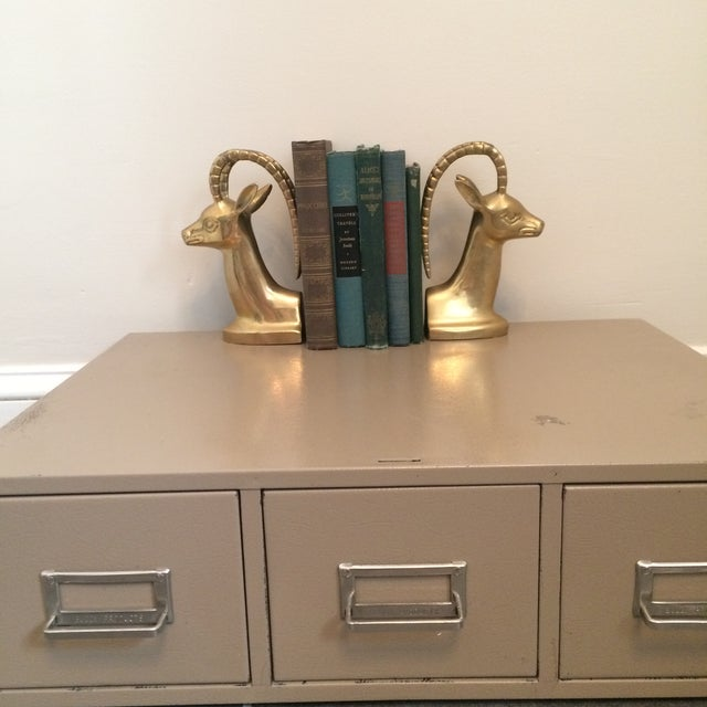 Brass Ibex Bookends - Image 8 of 8