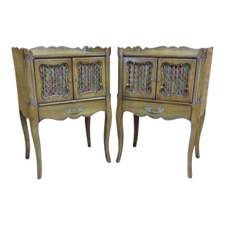 French Provincial Faux Painted Nightstands - a Pair For Sale