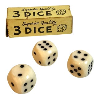 Vintage Bakelite Dice - Set of 3 For Sale