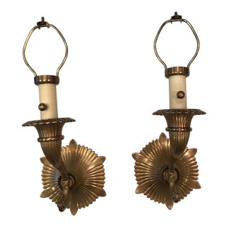 Chapman Solid Brass Wall Sconces - A Pair For Sale