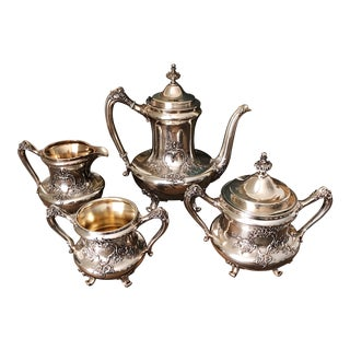 19th Century Traditional Reed & Barton Silver Tea Service - 4 Piece Set