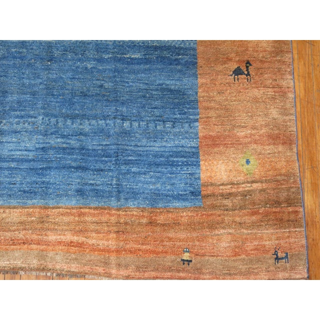 Vintage Pictorial Gabbeh, 9'10'' X 11'6'' For Sale - Image 10 of 12