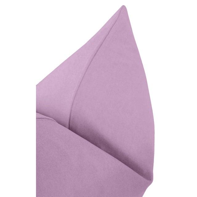 "22"" Lavender Velvet Pillows - a Pair For Sale - Image 4 of 5"