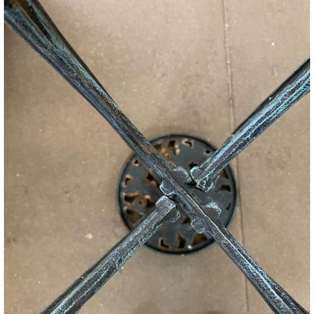 Metal Wrought Iron Plant Stand For Sale - Image 7 of 7