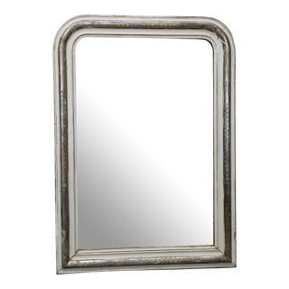 19th Century Louis Philippe Silver Leaf Mirror