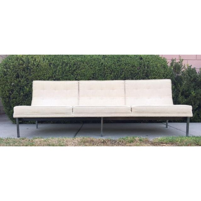 "Contemporary Florence Knoll ""Parallel Bar"" Armless Sofa For Sale - Image 3 of 8"