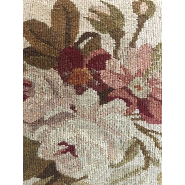1980s Italian Aubusson Style Pillow For Sale - Image 4 of 5