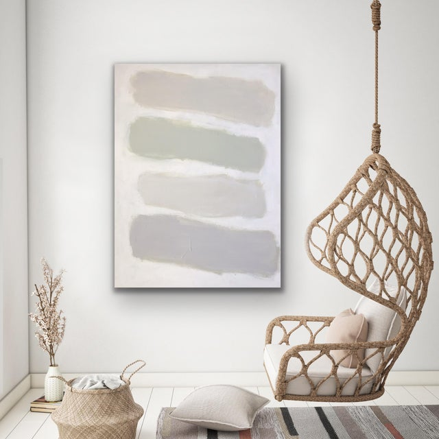 """Sarah Trundle Sarah Trundle Contemporary Abstract Painting """"Color Study: Neutrals"""" For Sale - Image 4 of 10"""