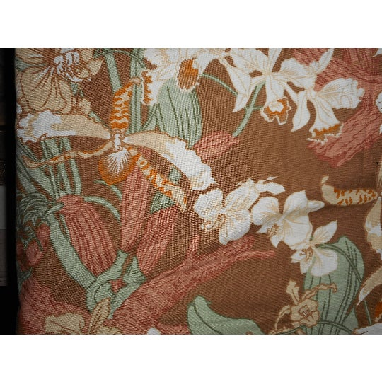 Vintage Luther Travis Screen Print Home Decor Fabric, 1970s For Sale - Image 4 of 7