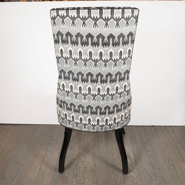Mid-Century Modernist High Back or Desk Chair w/ New Missoni Fabric For Sale - Image 4 of 7