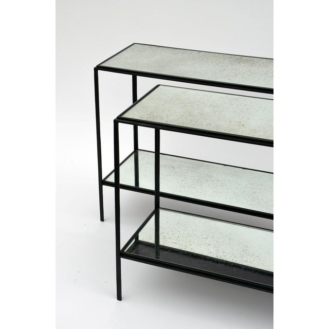 The 'Rectiligne' Narrow Mirrored End Table For Sale In Los Angeles - Image 6 of 8