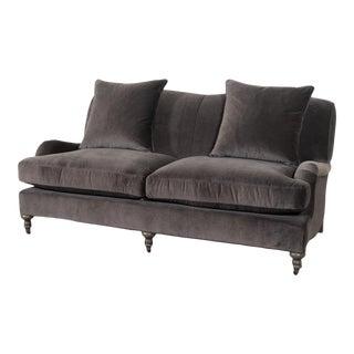 Victoria Winthrop Graphite Sofa For Sale