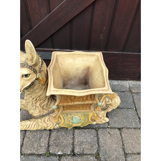 Vintage Palm Beach Hollywood Regency Resin Llama Planter - Image 5 of 10