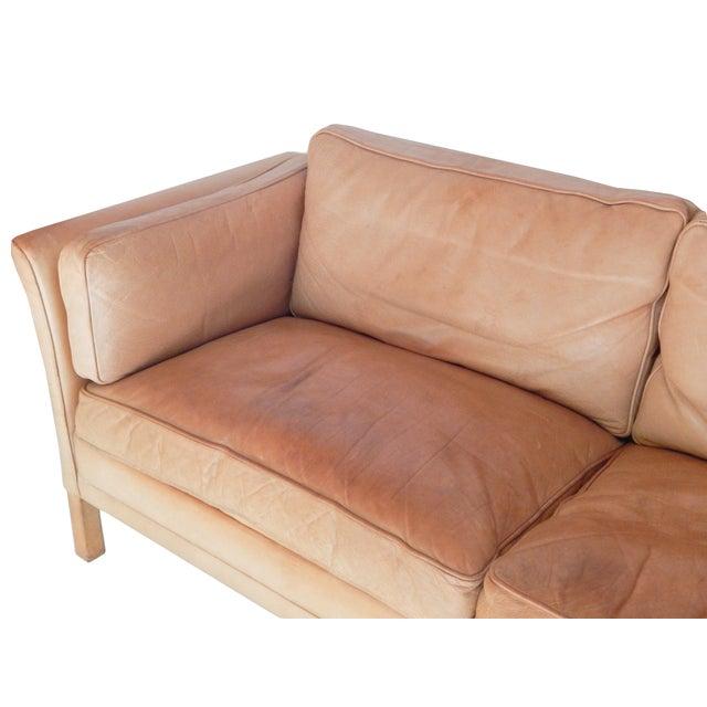 Animal Skin Mid-Century Danish Sofa For Sale - Image 7 of 8
